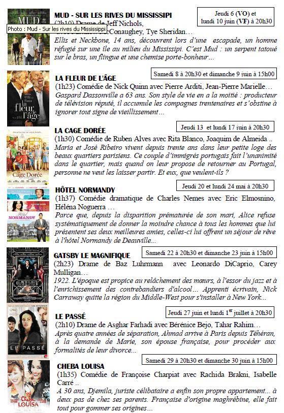 Cinéma Neuville Juin 2013