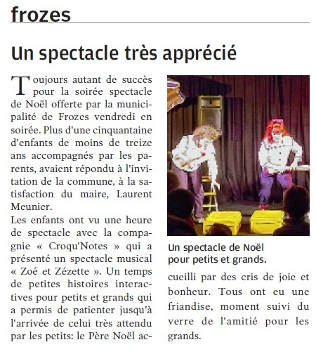 Spectacle noel 2014 frozes